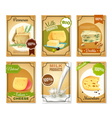 Milk Products Vertical Banners vector image