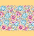 nasturtium classic floral pattern vector image