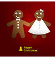 paper Christmas cookies vector image vector image