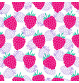 pattern with raspberries vector image vector image