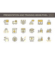 presentation and training icon set design 48x48 vector image