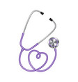 red color stethoscope icon medical equipment vector image