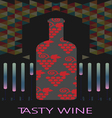 Red wine and tasting card vector image vector image