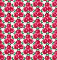 ribbon rose cluster pattern vector image vector image