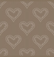 seamless hearts pattern in the background vector image vector image