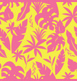 seamless tropical pattern with palm leave vector image