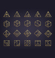 set abstract geometric logos art deco vector image vector image