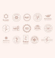 set elegant badges and stickers for beauty vector image vector image