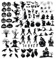 set elements for halloween a collection of vector image