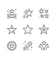 set line icons star vector image