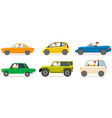 set modes transport and shapes cartoon vector image vector image