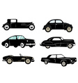 Set of retro cars icons vector image