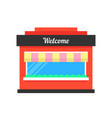 simple shop building icon vector image vector image