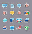 social media stickers vector image vector image