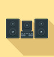 stereo system icon flat style vector image vector image