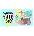 summer sale banner business color vector image