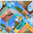 summer time vacation nature tropical beach vector image vector image