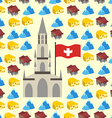 Switzerland seamless pattern of symbols of country vector image vector image