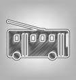 trolleybus sign pencil sketch imitation vector image vector image