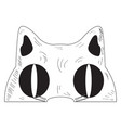 vintage cat mask vector image