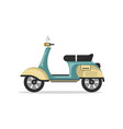 vintage scooter isolated icon vector image vector image
