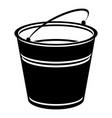 volume bucket icon simple style vector image vector image