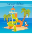 Water Park Summer Vacation Children vector image vector image