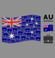 waving australia flag mosaic case items vector image vector image