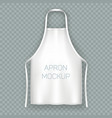 white isolated cooking apron or working uniform vector image