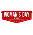 womans day banner design vector image