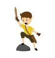 a boy with sword vector image