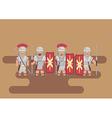 Roman legion soldier flat graphic vector image