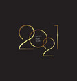 2021 new year background with gold numbers vector image vector image