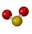 a molecule of sulfur dioxide vector image vector image