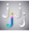 Abstract Combination of Letter J vector image