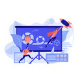 agile project management concept vector image vector image