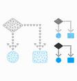 algorithm flowchart mesh carcass model and vector image vector image