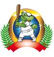 baseball badge vector image vector image
