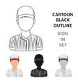 baseball player baseball single icon in cartoon vector image vector image