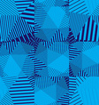 Blue abstract striped textured geometric seamless vector image vector image