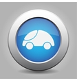 blue metal button with car vector image vector image
