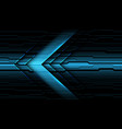 blue metallic arrow direction on dark circuit vector image vector image