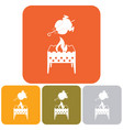 brazier and chicken icon vector image vector image