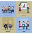 Business Negotiation Flat Template vector image vector image