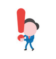businessman character walking and holding vector image
