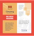 carrots farm company brochure title page design vector image vector image