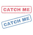 catch me textile stamps vector image vector image