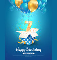 celebrating 7 th years birthday 3d vector image vector image