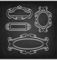 chalk sketch of vintage frames vector image