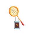 champion golden trophy with tennis vector image vector image